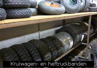 Kruiwagen en heftruckbanden